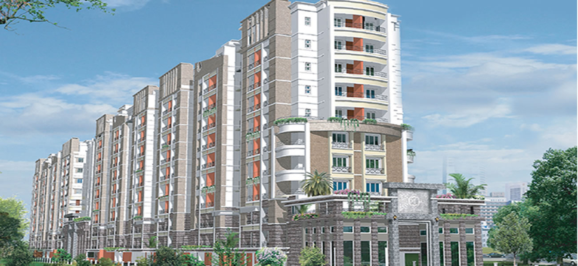 2669 sq ft 4 bhk 4t apartment for sale in radiance realty for Terrace elevation