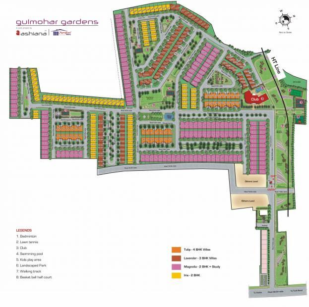 Images for Layout Plan of Ashiana Gulmohar Gardens Apartments