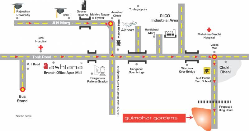 Images for Location Plan of Ashiana Gulmohar Gardens Apartments