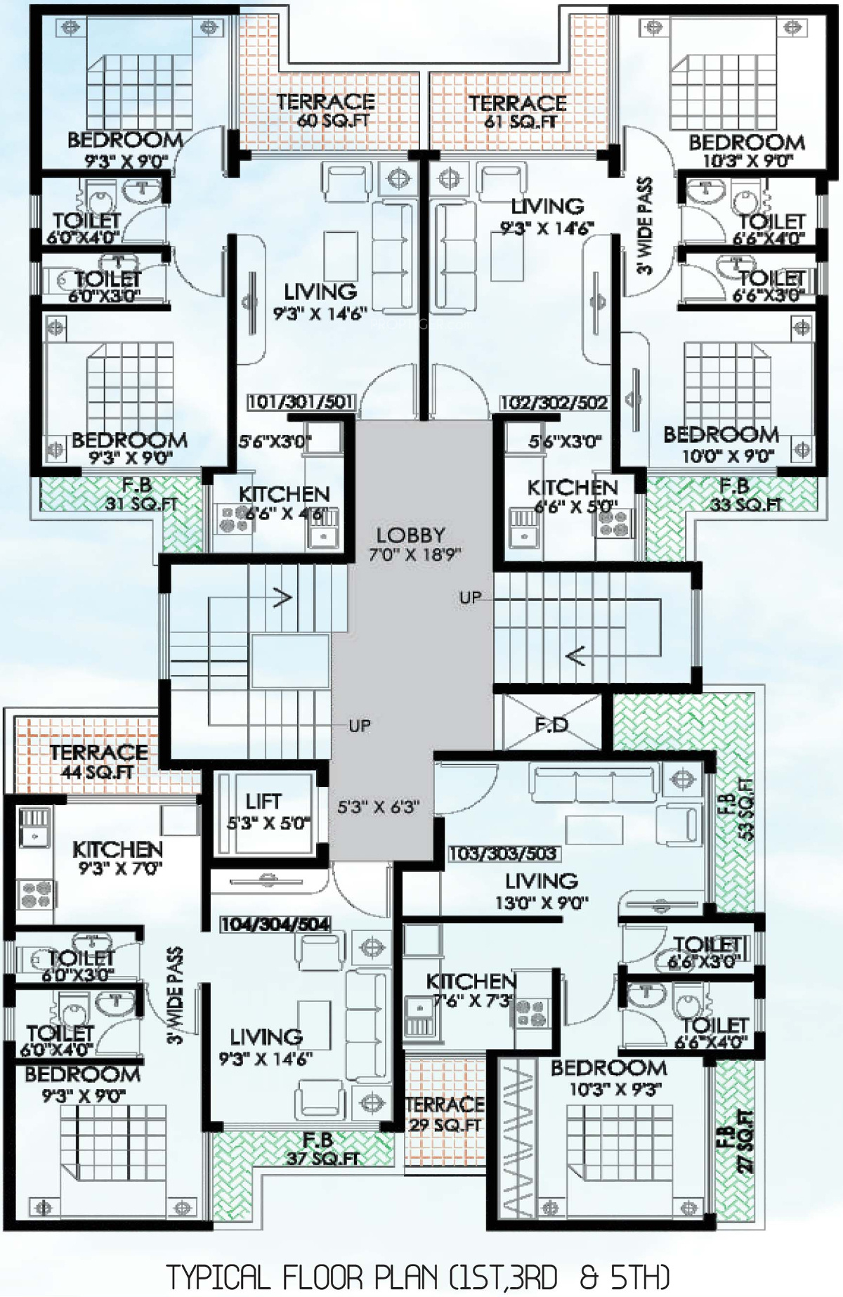 950 Sq Ft 2 Bhk 2t Apartment For Sale In Kanag Group