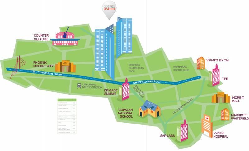 united Images for Location Plan of Godrej United