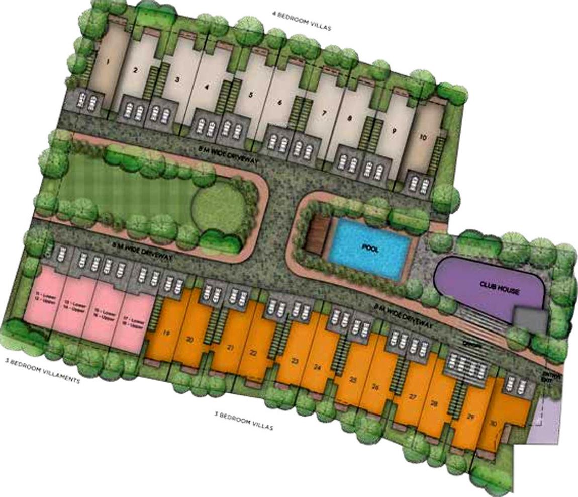 Vaswani walnut creek apartment in chikkanayakanahalli at for Apartment master plans