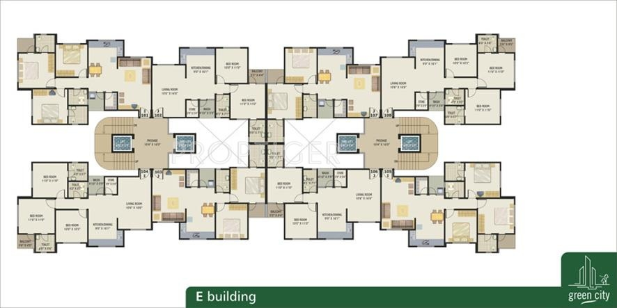 1600 sq ft 3 bhk 3t apartment for sale in green group city for Apartment building plans for sale