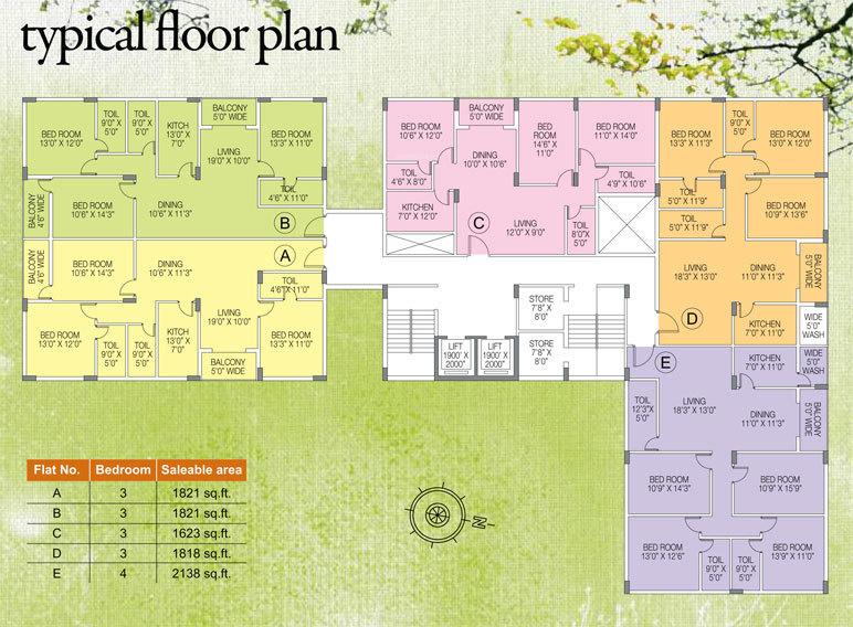 Images for Cluster Plan of Natural Sarvapriya Residency