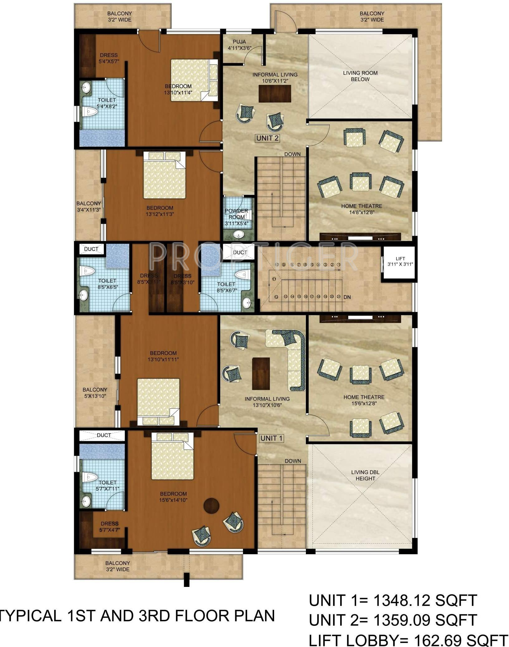 1110 sq ft 3 bhk 3t apartment for sale in urban housing for Urban floor plans