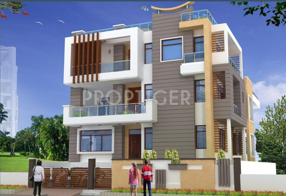 main elevation image of guman group dreams unit available at guman group dreams villa elevation