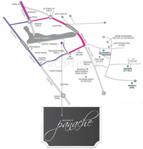 Images for Location Plan of Mahima Panache