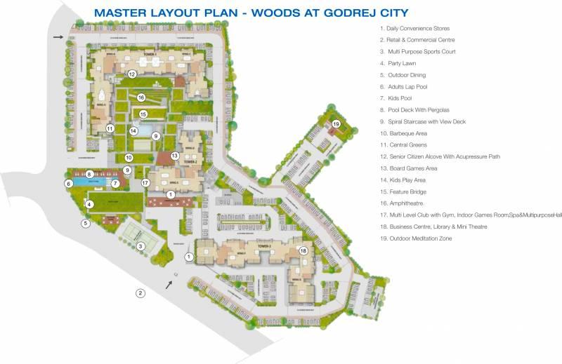 Images for Site Plan of Godrej City Woods Panvel Ph 1