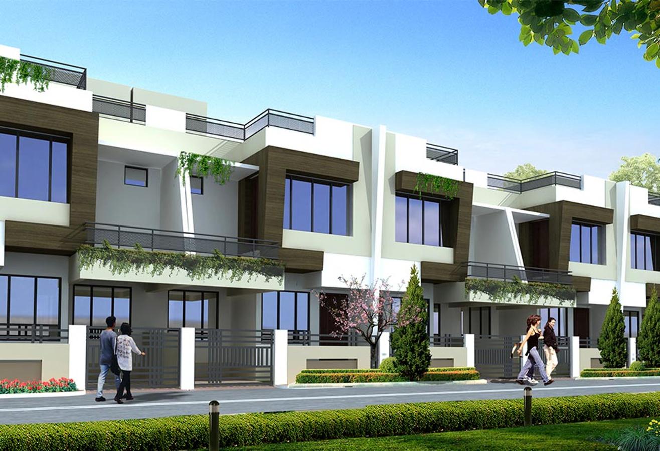 Payment plan image of radha madhav yashoda villa gumgaon for Villa elevation photos