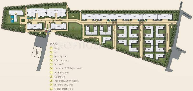 Images for Site Plan of Value Willow Farm Villa