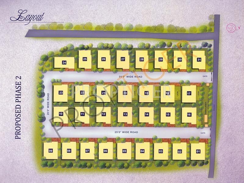 2214 sq ft 3 bhk 3t villa for sale in motwani for Banes planning