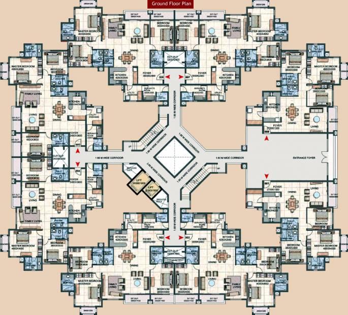 Images for Cluster Plan of Prestige Silver Oak Apartment