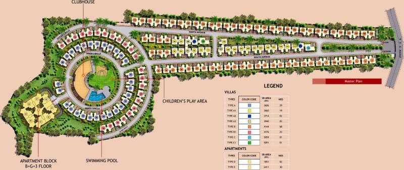 Images for Master Plan of Prestige Silver Oak Apartment