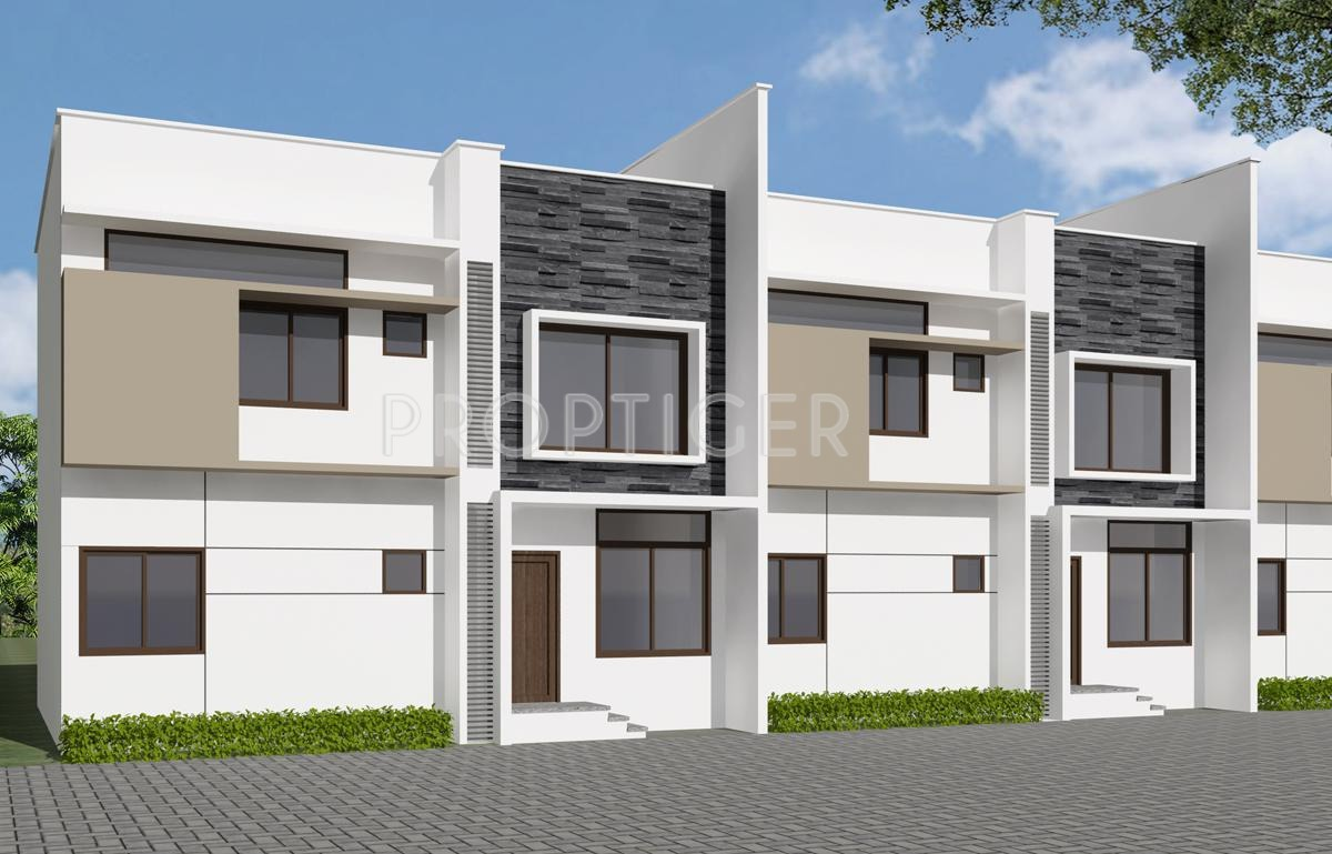 Front Elevation Of Row Houses : Main elevation image of uniworth tranquil villas unit