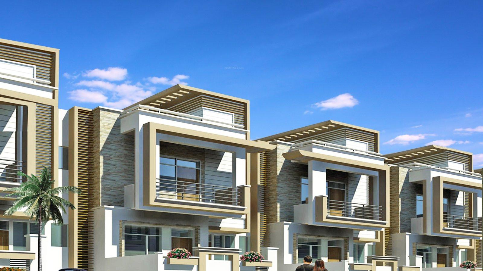 Main elevation image 3 of pearl spytech d villa unit for Villa elevation photos