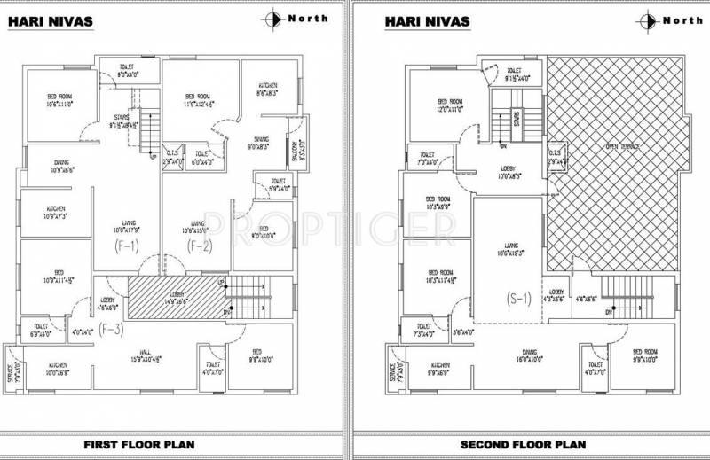 Rana Builders Hari Nivas 1st And 2nd Floor Cluster Plan
