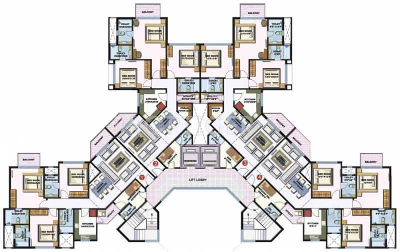 palacia Tower A1 Cluster Plan
