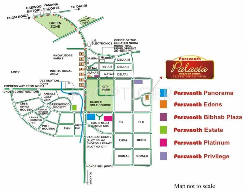 palacia Images for Location Plan of Parsvnath Palacia