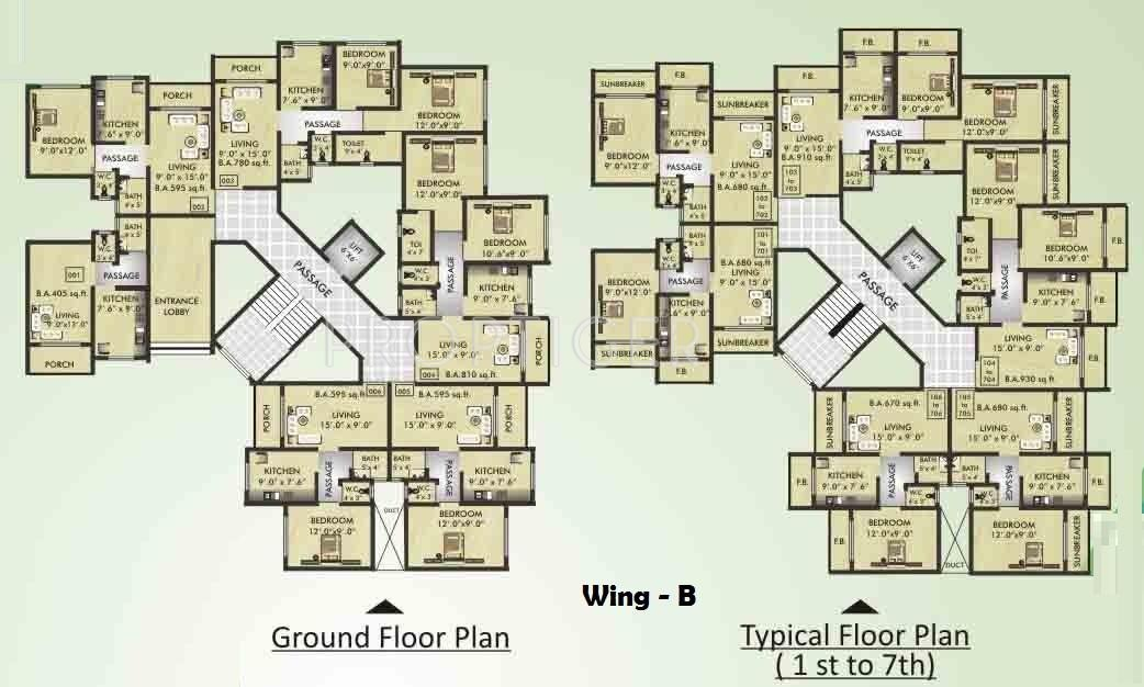 580 Sq Ft 1 Bhk 1t Apartment For Sale In Hitesh Group