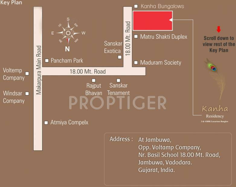 Images for Location Plan of Aatmiya Kanha Residency