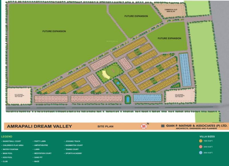 Images for Site Plan of Amrapali Dream Valley Villa
