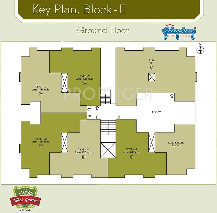 1156 sq ft 3 bhk 3t apartment for sale in galaxy homes for Backyard apartment floor plans