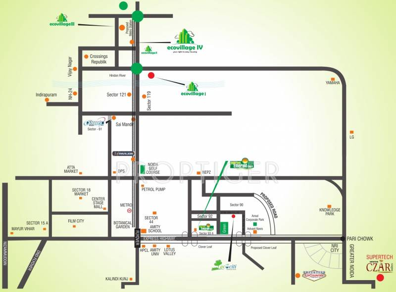 Images for Location Plan of Supertech Eco Village 4