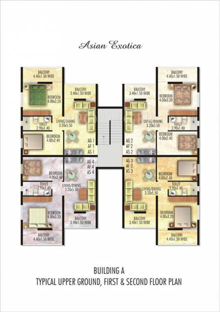 Images for Cluster Plan of Asian Exotica Apartments