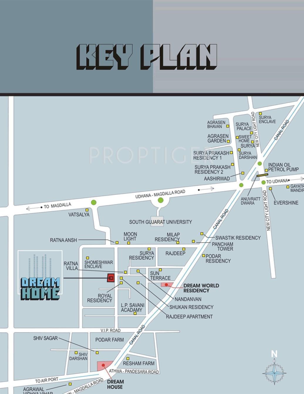 Ravani dream home in vesu surat price location map for Dream home location