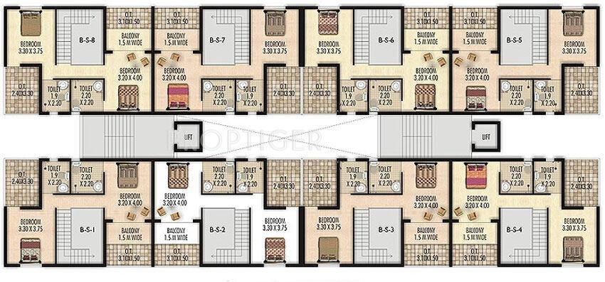 250 sq ft 1 bhk 2t apartment for sale in l and l builders for 250 square foot apartment floor plan