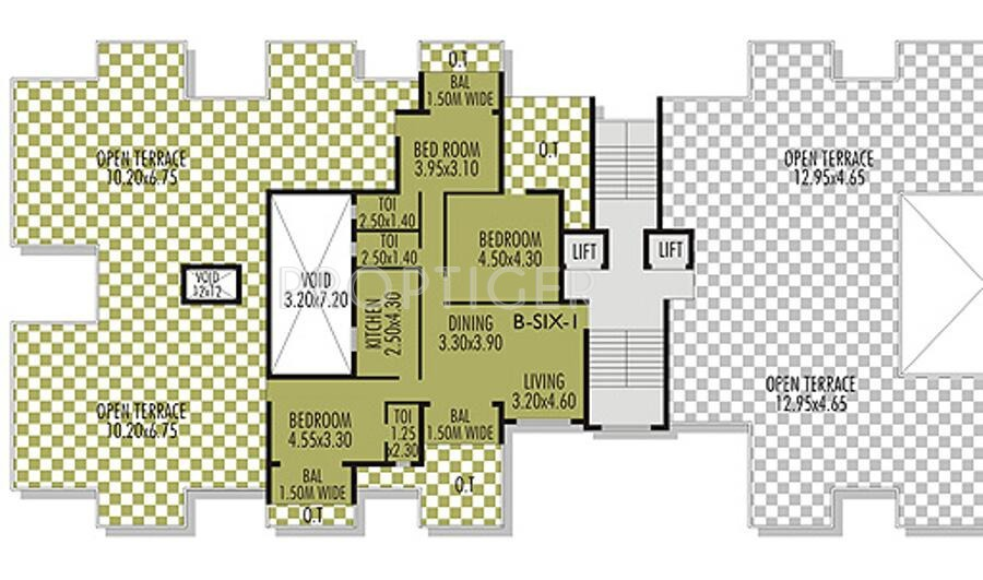 650 sq ft 1 bhk 1t apartment for sale in l and l builders for Builder s pride flooring