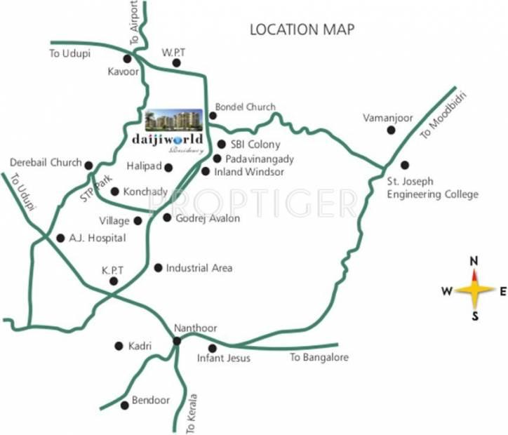 Rohan Corporation Daijiworld Residency Location Plan