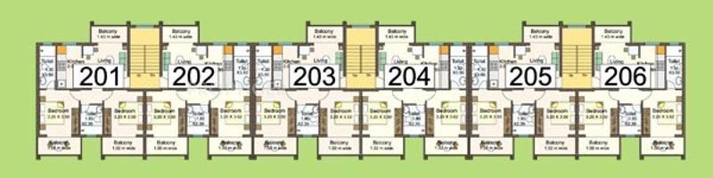 Aquarius Kda Developers Four Seasons Phase III Cluster Plan 2nd Floor