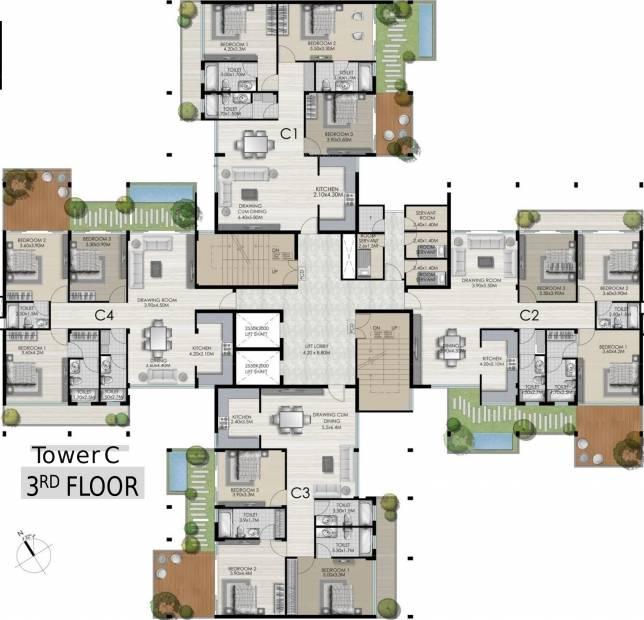 Images for Cluster Plan of Vedic Terrace Heights