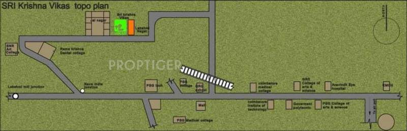Abhinitha Foundation Sri Krishna Vikas Location Plan