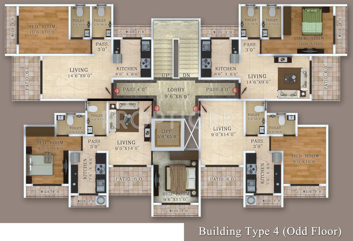 540 sq ft 1 bhk 1t apartment for sale in virat harmony for Apartment plans as per vastu