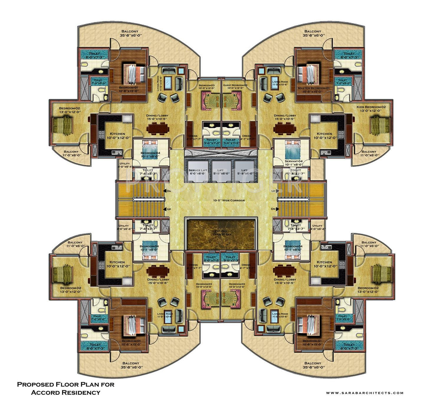 2025 sq ft 4 bhk 4t apartment for sale in accord infra for Apartment design development pvt ltd