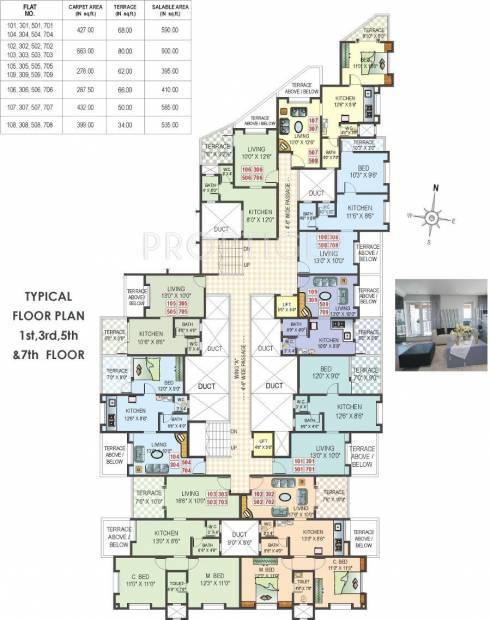 ACME Landmark Veronica Park Odd Floor Cluster Plan