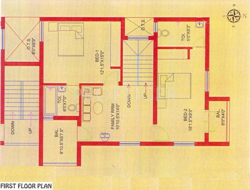 Images for Cluster Plan of Annai Ram Nagar Apartments