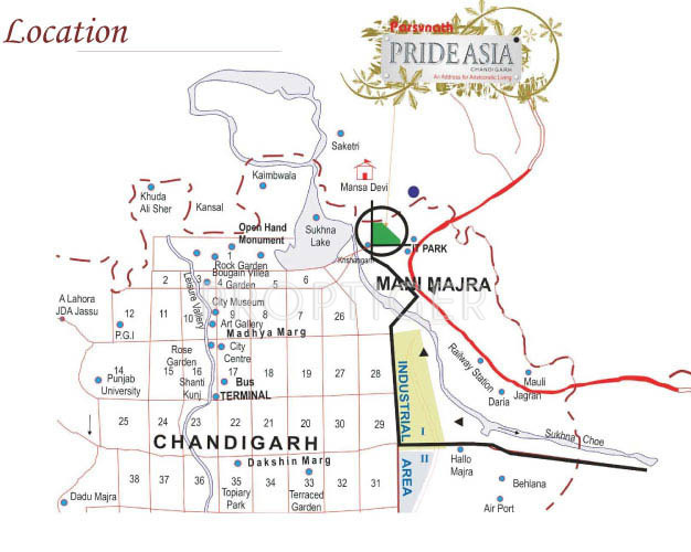 Images for Location Plan of Parsvnath Prideasia