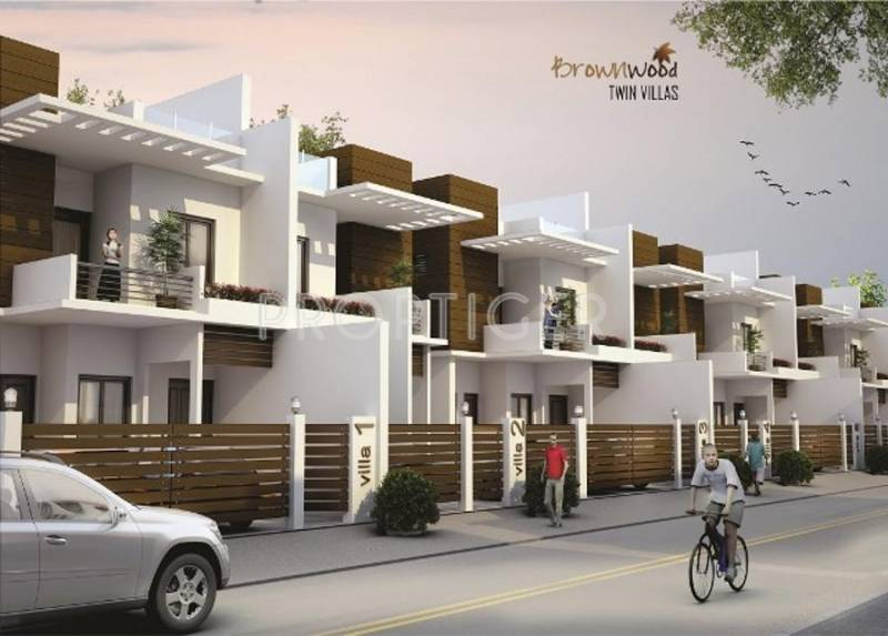 Images for Elevation of Baba Foundations Brown Wood Villas