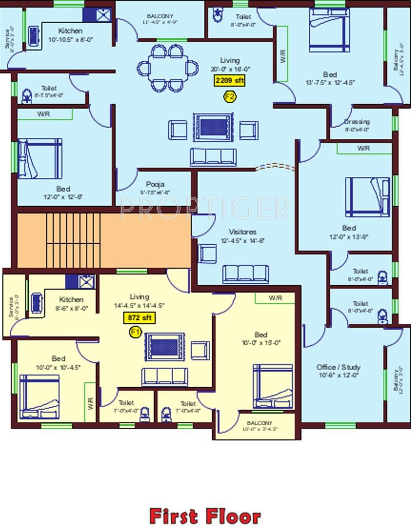 830 sq ft 2 bhk 2t apartment for sale in aliyah foundation for 125 court street floor plans