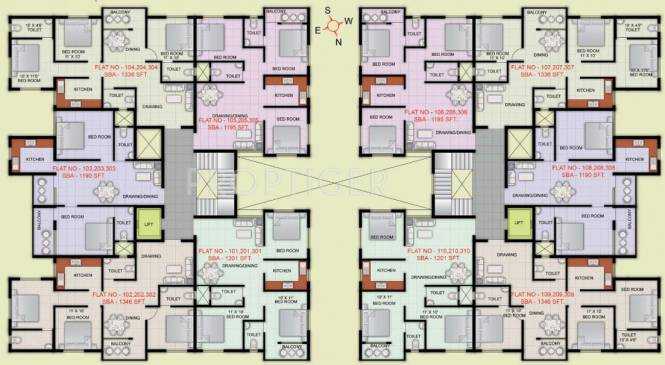 Images for Cluster Plan of Indo City Enclave