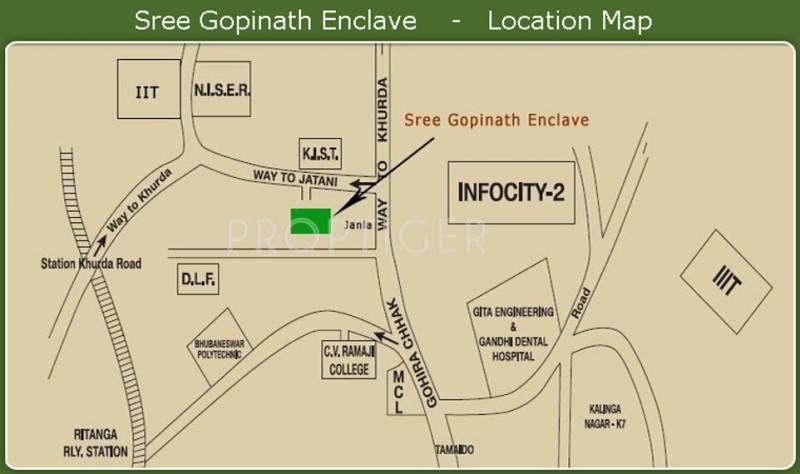 mahanadi-builders-pvt-ltd sree-gopinath-enclave-villa Location Plan