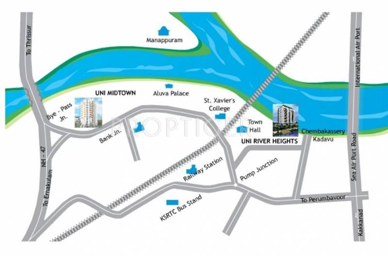 uni-homes midtown Location Plan