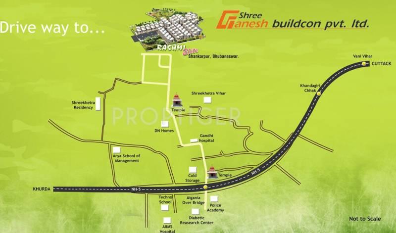 Images for Location Plan of Shree Ganesh Bhubaneswar Rashmi Elite