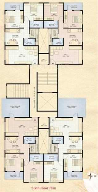 shree-ganesh-constructions aastha Aastha Cluster Plan for 6th Floor
