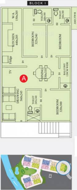 anta-builders-and-developers river-valley Block 1 Cluster Plan from 1st to 5th Floor