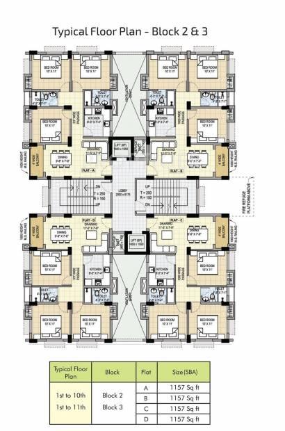 shree-gardens Block 1 Cluster Plan
