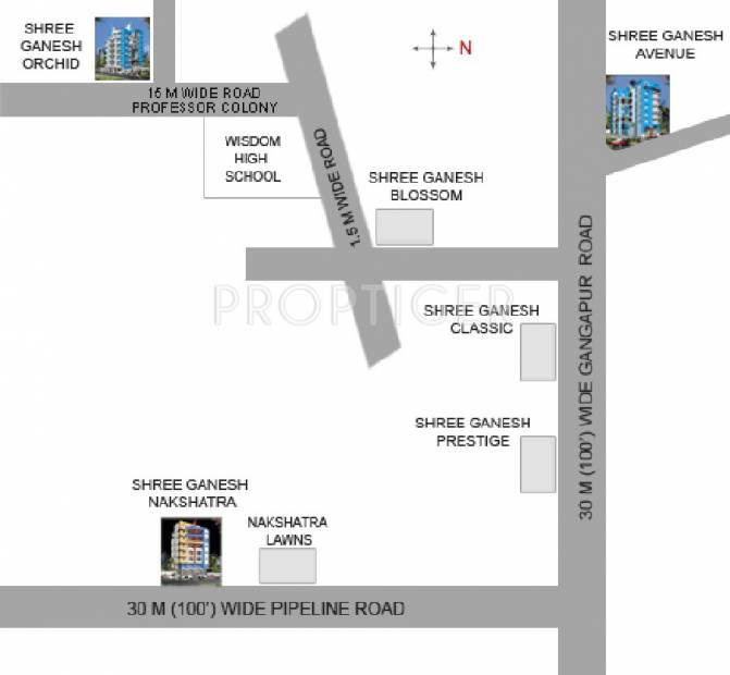 shree-ganesh-constructions avenue Location Plan